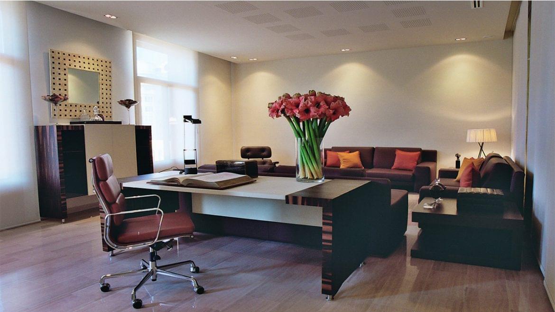 Los colores claros son el marco arquitectónico propicio para desarrollar espacios de trabajo neutros donde el mobiliario y los accesorios propios del uso, dotan al conjunto de la caracterización corporativa deseada.