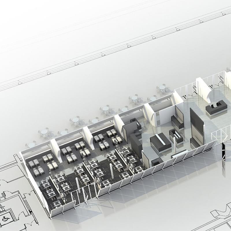 Diseñar un restaurante dentro de uno de los edificios más emblemáticos de la Valencia contemporánea, en el Museo Príncipe Felipe, obra de Santiago Calatrava, supone un cuidadoso ejercicio dialéctico. Las referencias formales al contenido del Museo han supuesto el hilo conductor de este enriquecedor Proyecto.
